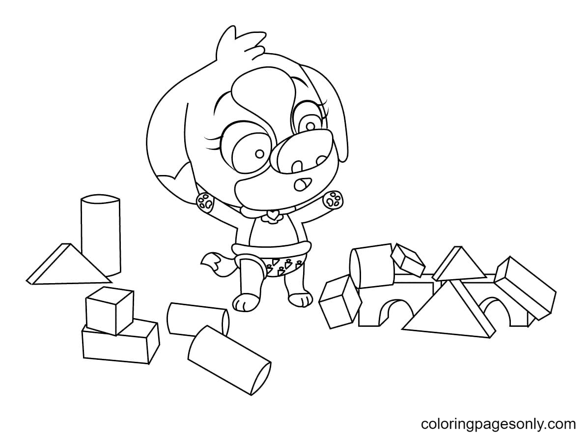 Lucky from TOTS Coloring Page
