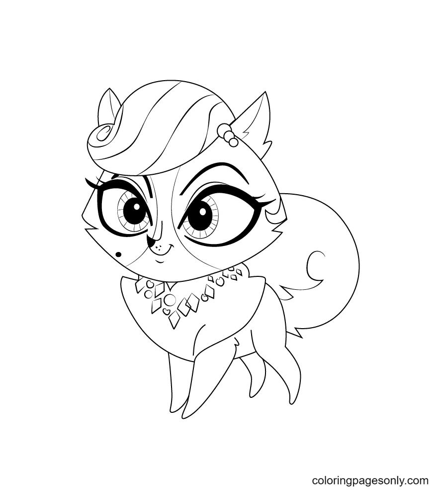 Madame Pom from Littlest Pet Shop Coloring Page