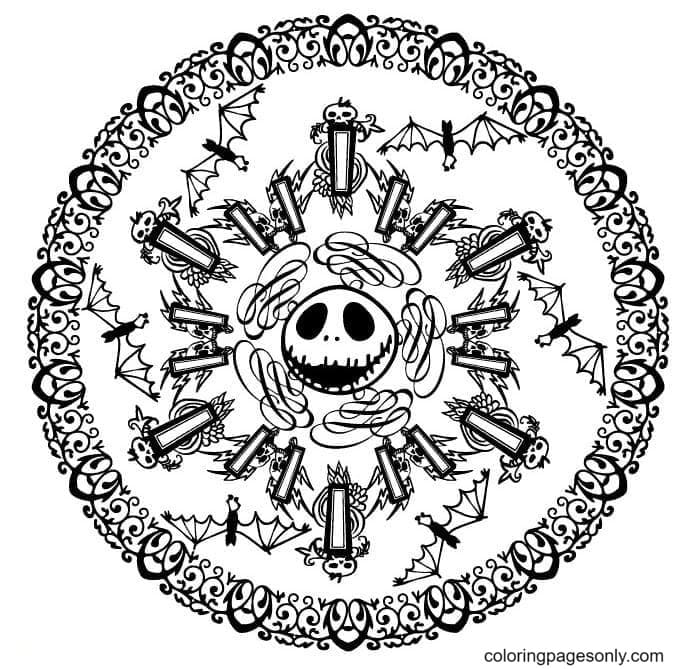 Mandala Jack Coloring Page
