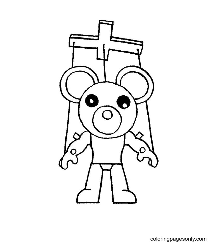 Mari Roblox Piggy Coloring Page