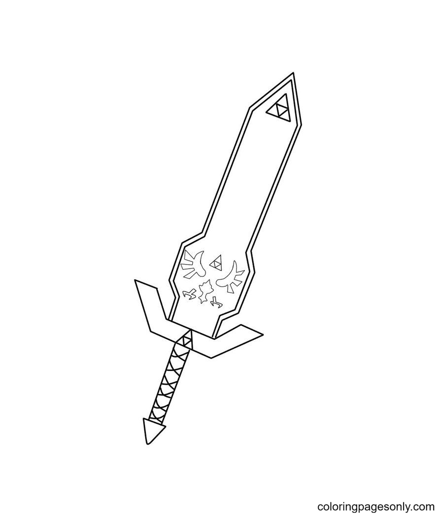 Master Sword Coloring Page
