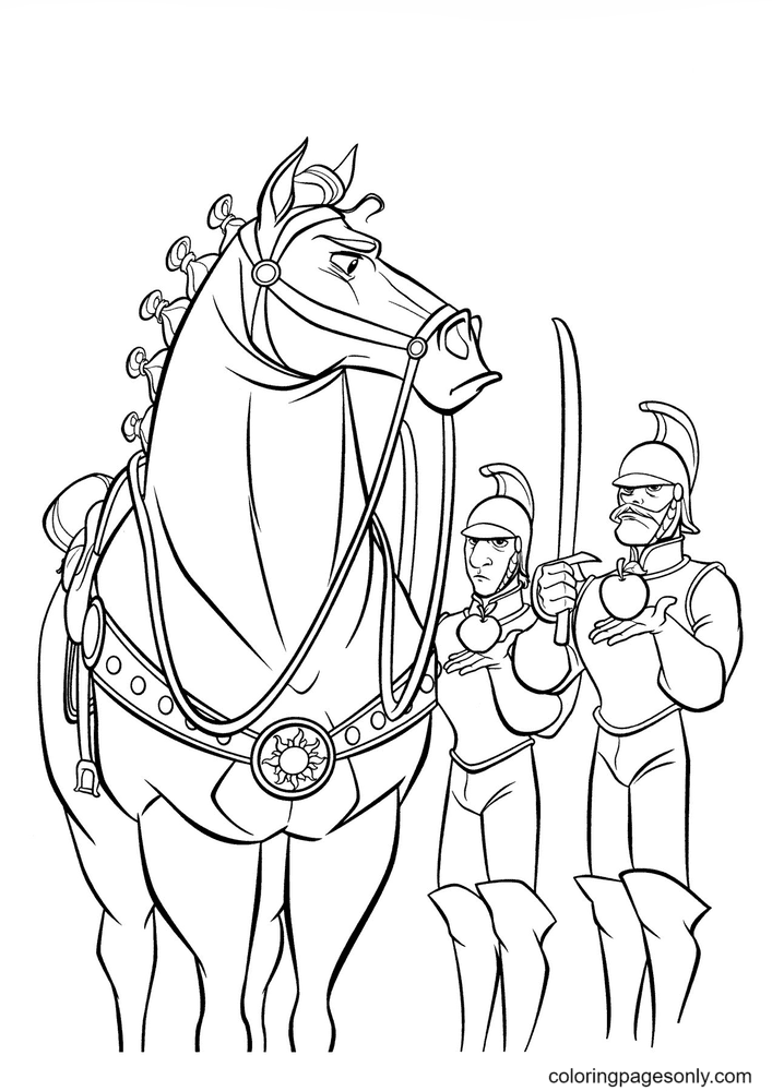 Maximus and Royal Guards Coloring Page