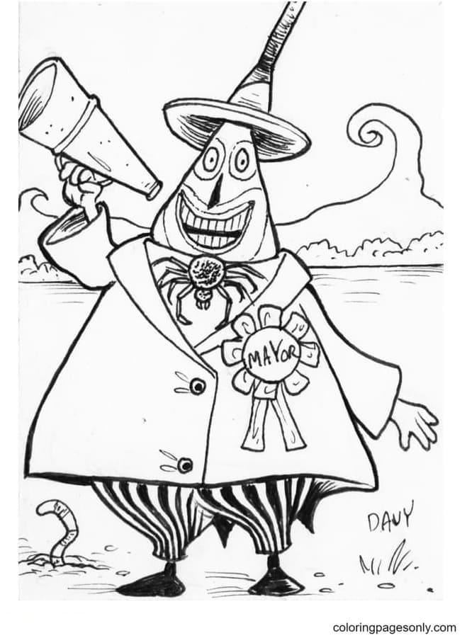 Mayor of Halloween Town Printable Coloring Page
