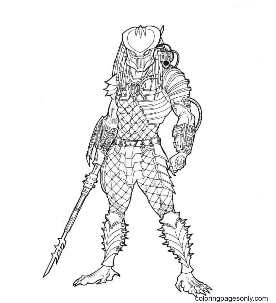 Mega Predator Coloring Page