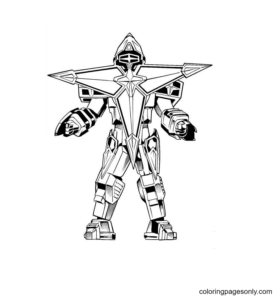 Megazord Coloring Page