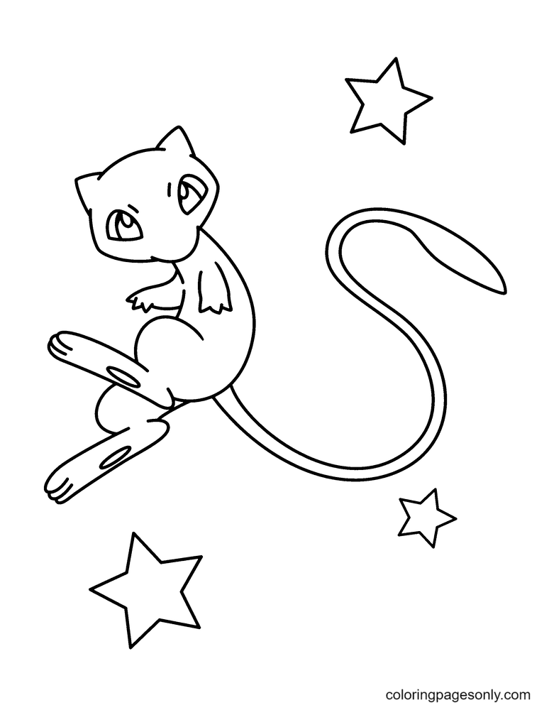 Mew Cute Coloring Page
