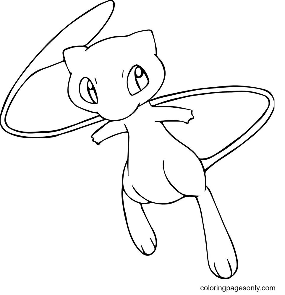 Mew Pokemon Printable Coloring Page