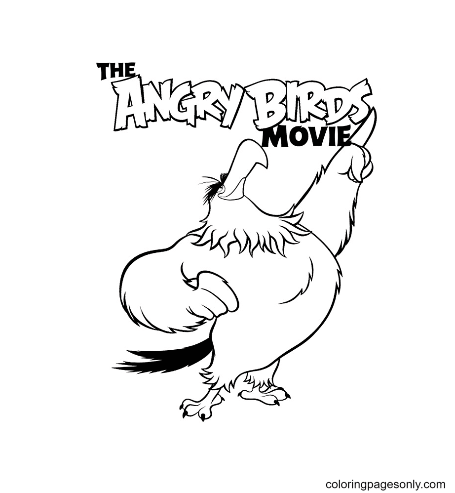 Mighty Eagle Coloring Page