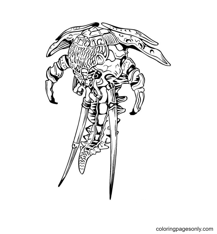 Monster Alien Coloring Page