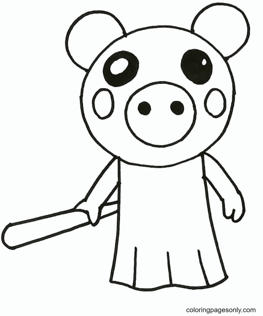 Mother Piggy Roblox Coloring Page