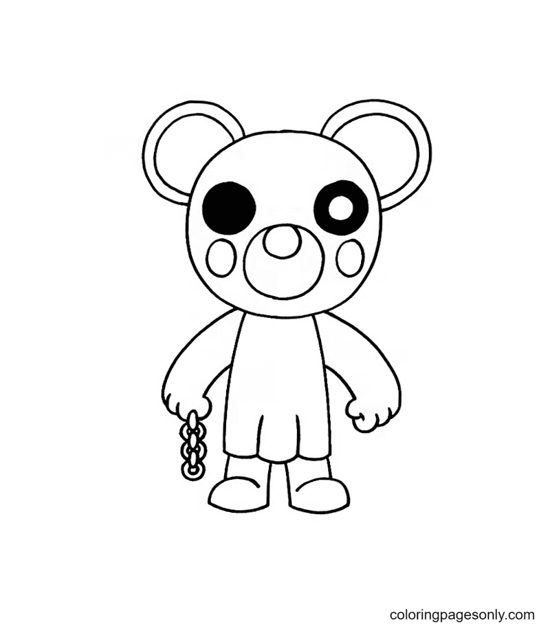 Mousy Piggy Roblox Coloring Page
