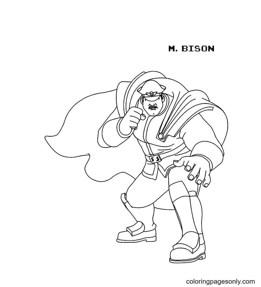 Mr Bison in Wreck It Ralph Coloring Page