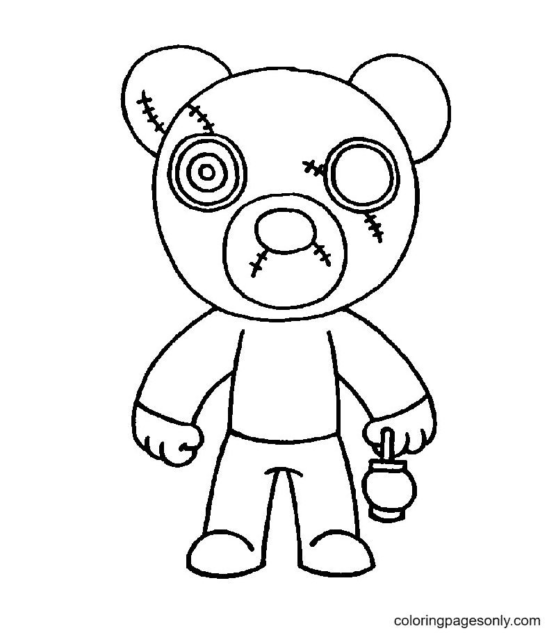 Mr Stitchy Roblox Piggy Coloring Page
