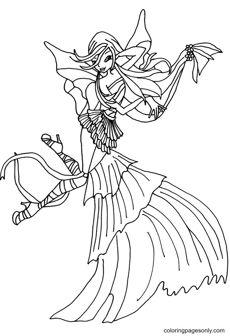 Musa Harmonix Coloring Page