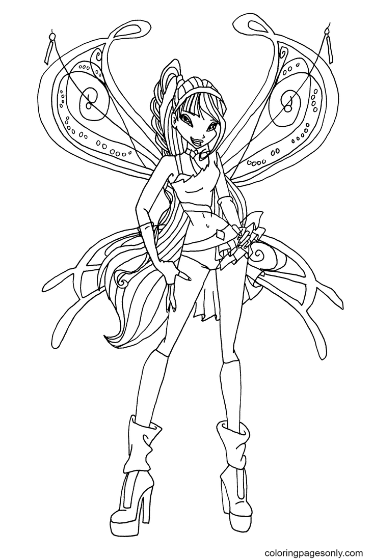 Musa Sophiex Coloring Page