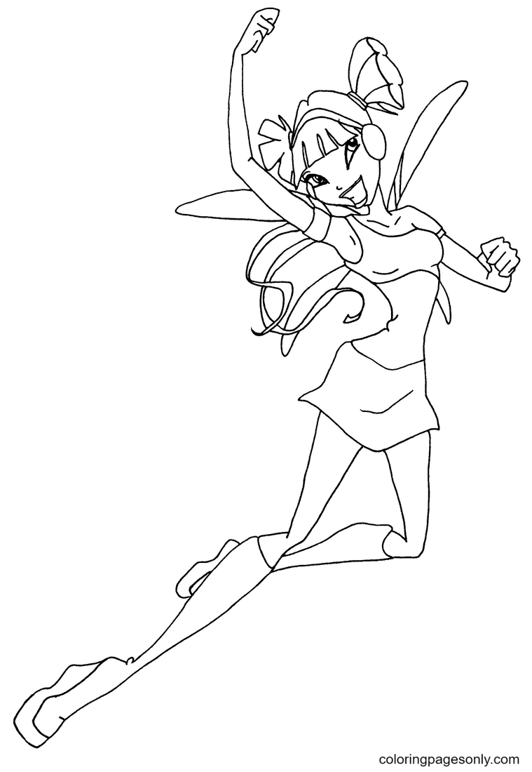 Musa dancing Coloring Page