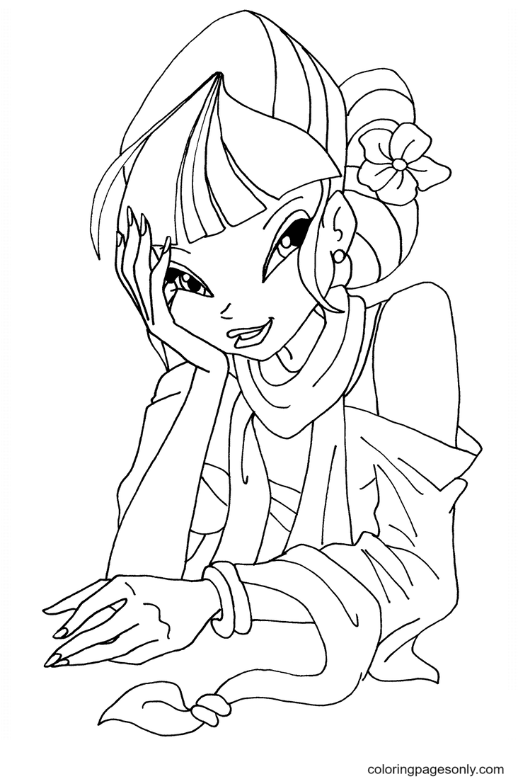 Musa styles Coloring Page