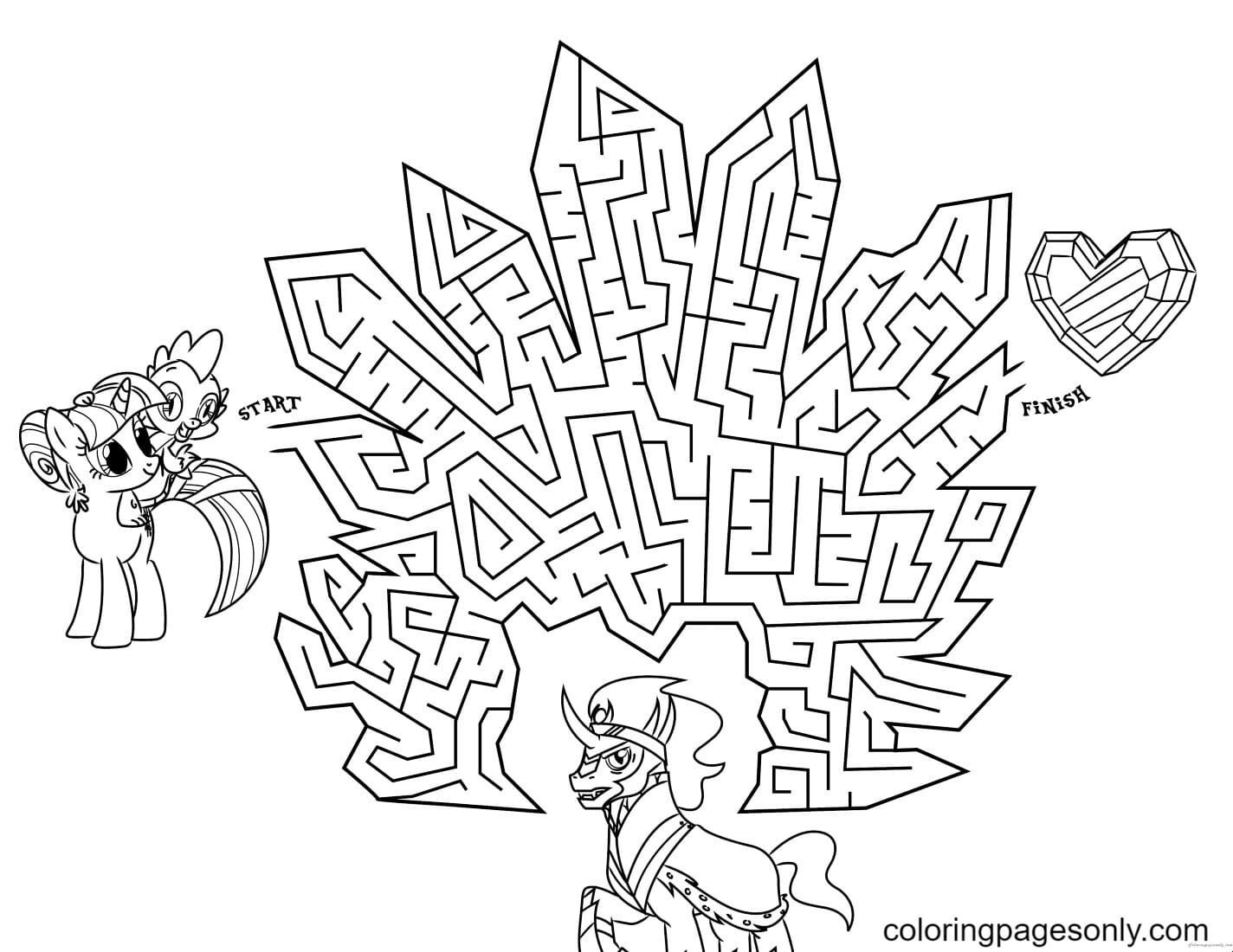 My Little Pony Crystal empire Coloring Page