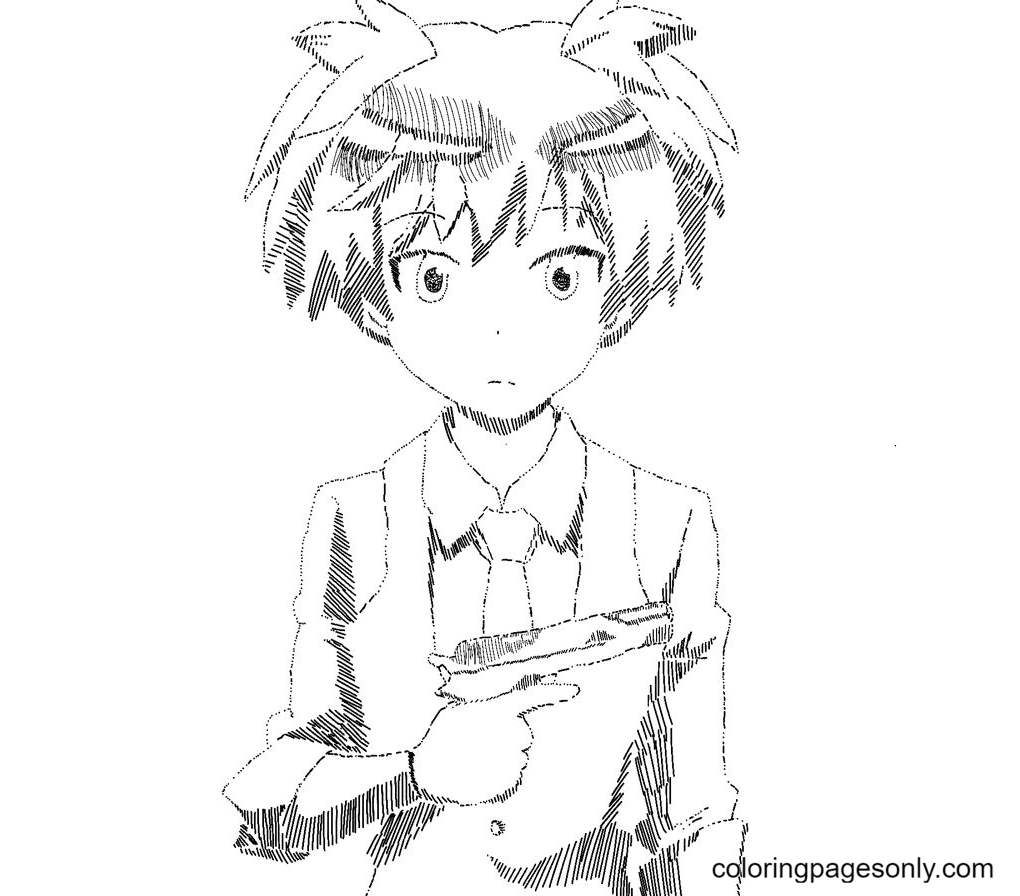 Nagisa From Assassination Classroom Coloring Page