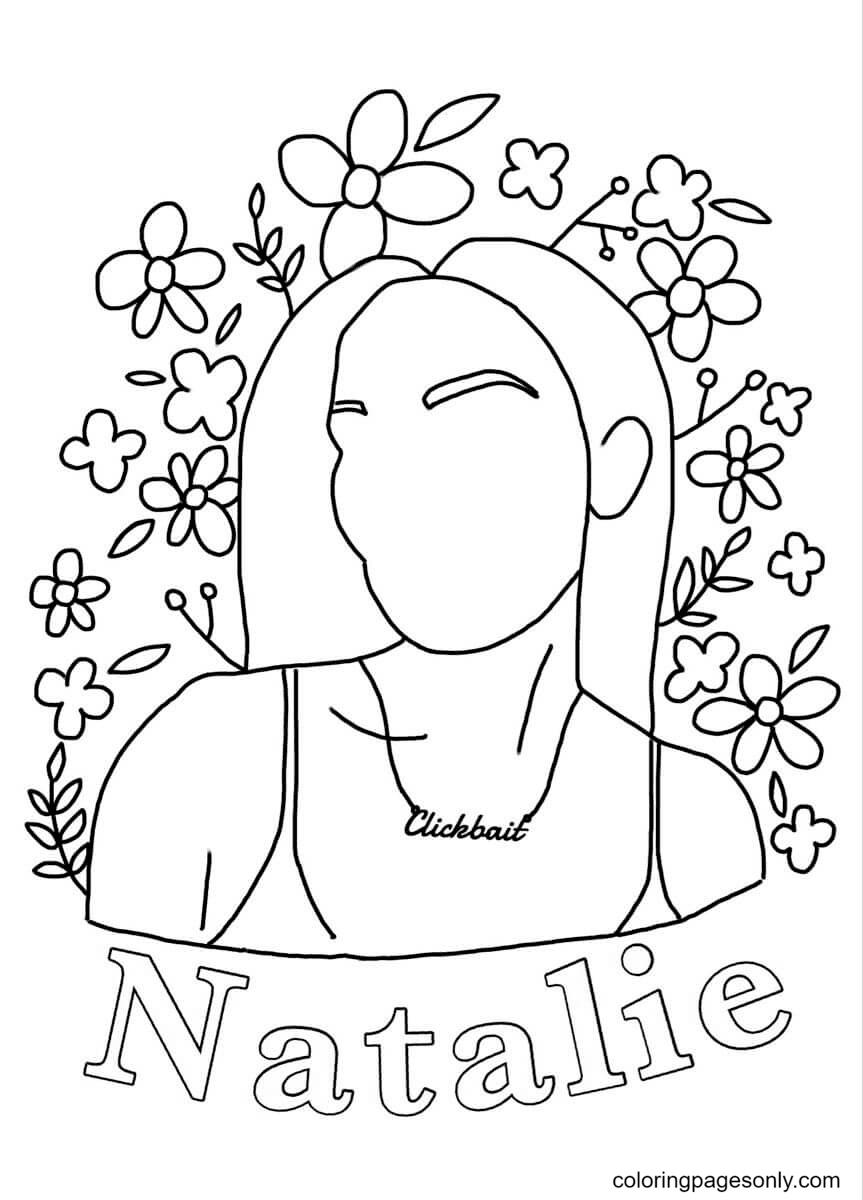 Natalie TikTok Coloring Page