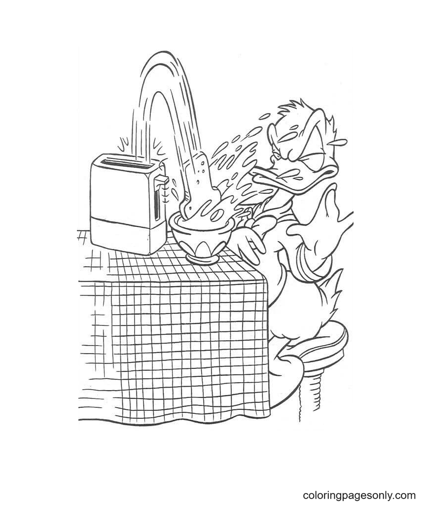 Naughty Bread Coloring Page