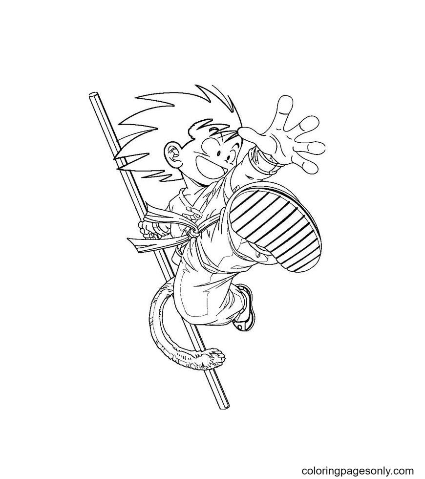 Naughty Goku Coloring Page