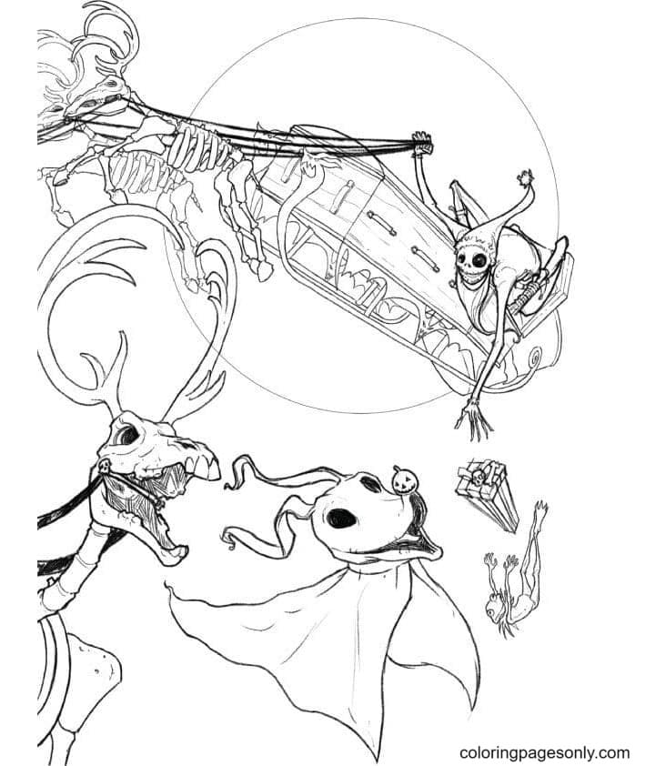 Nightmare Before Christmas Printable Coloring Page