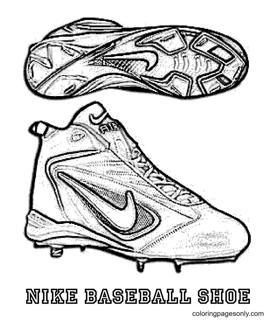 Nike Baseball Shoes Coloring Page