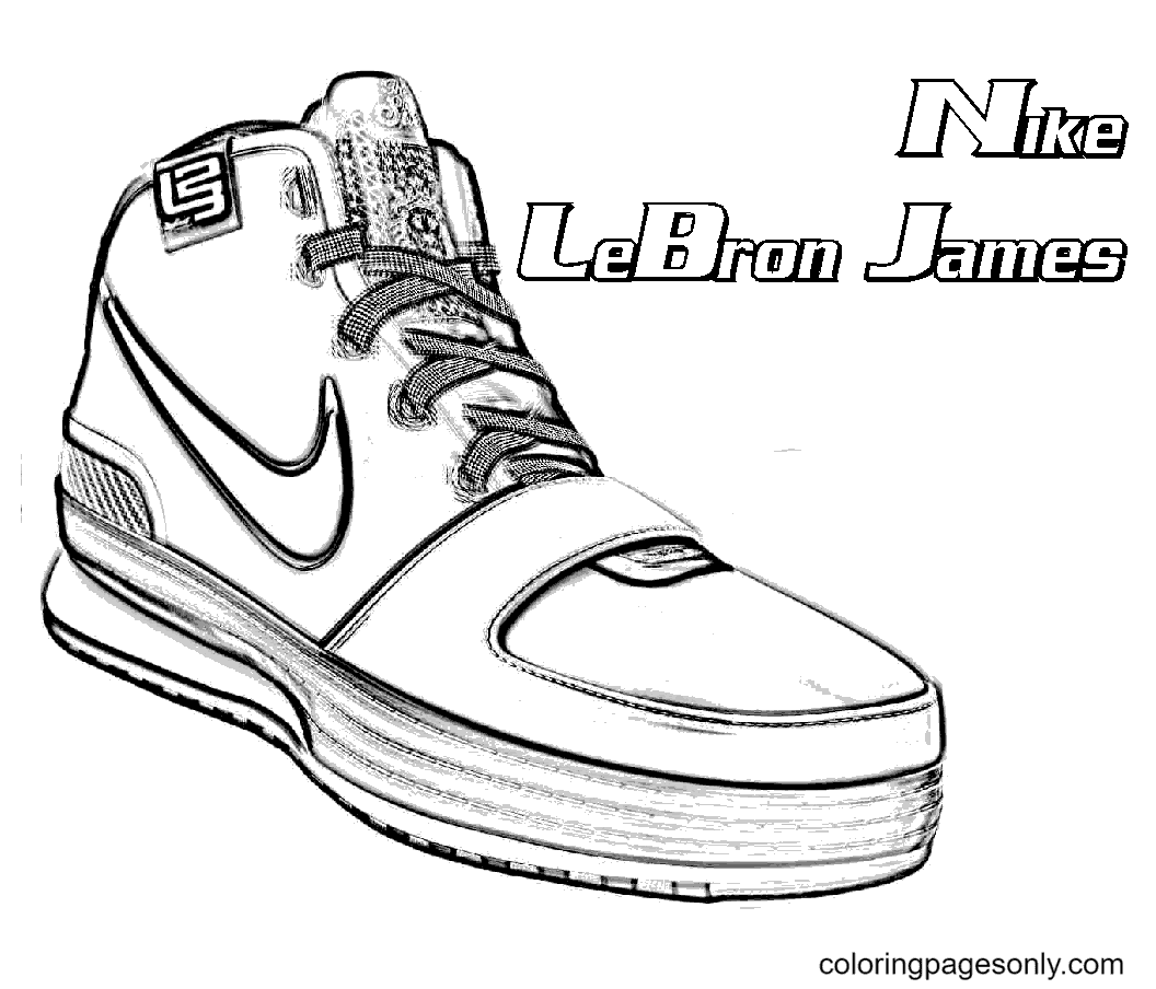 Nike Shoes Coloring Page