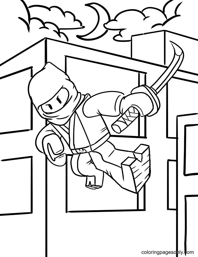 Ninjago with Sword Coloring Page