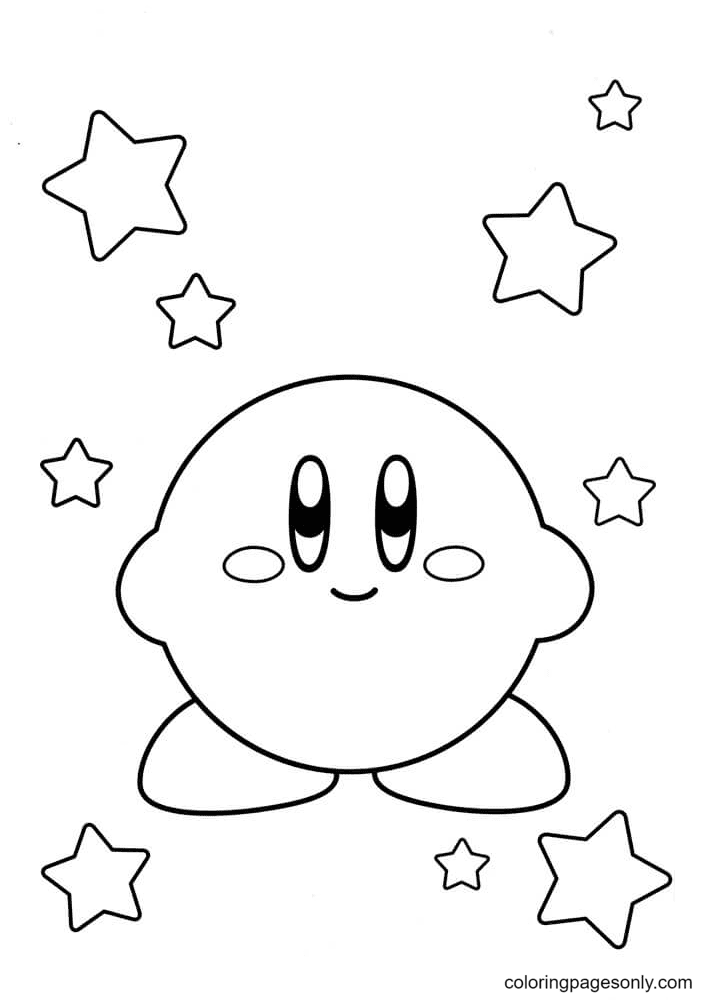 Nintendo Kirby Coloring Page