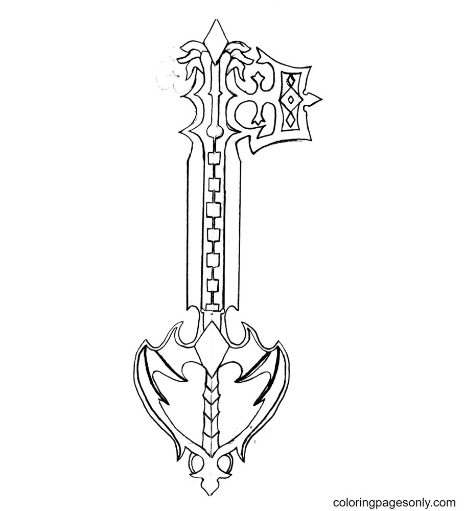 Oblivion Key Coloring Page