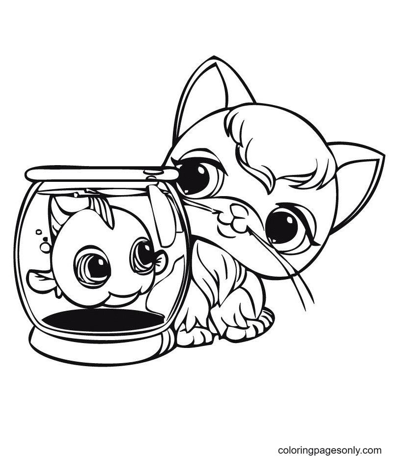 Oddest Friends Littlest Pet Shop Coloring Page