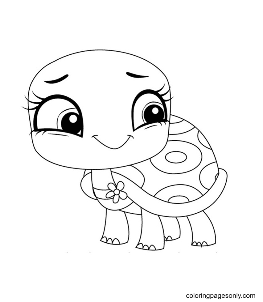 Olive Shellstein from Littlest Pet Shop Coloring Page
