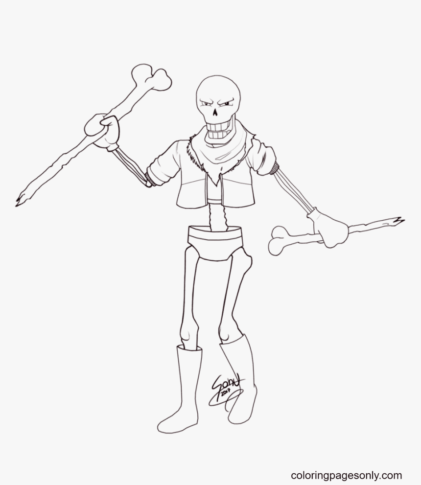 Papyrus Free Printable Coloring Page