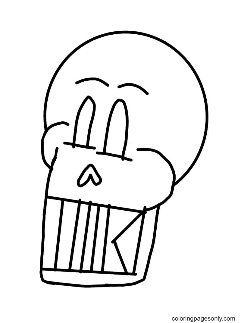 Papyrus Head Coloring Page