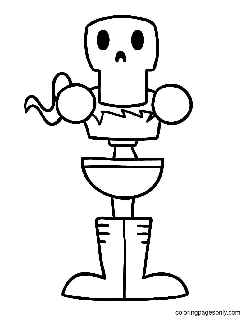 Papyrus Simple Coloring Page