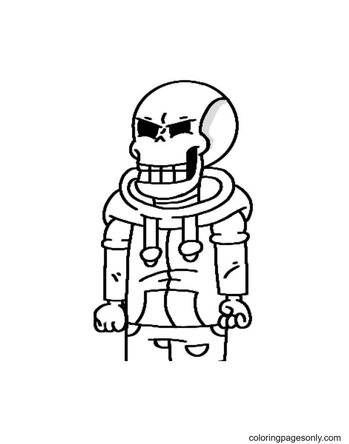 Papyrus Undertale Free Coloring Page