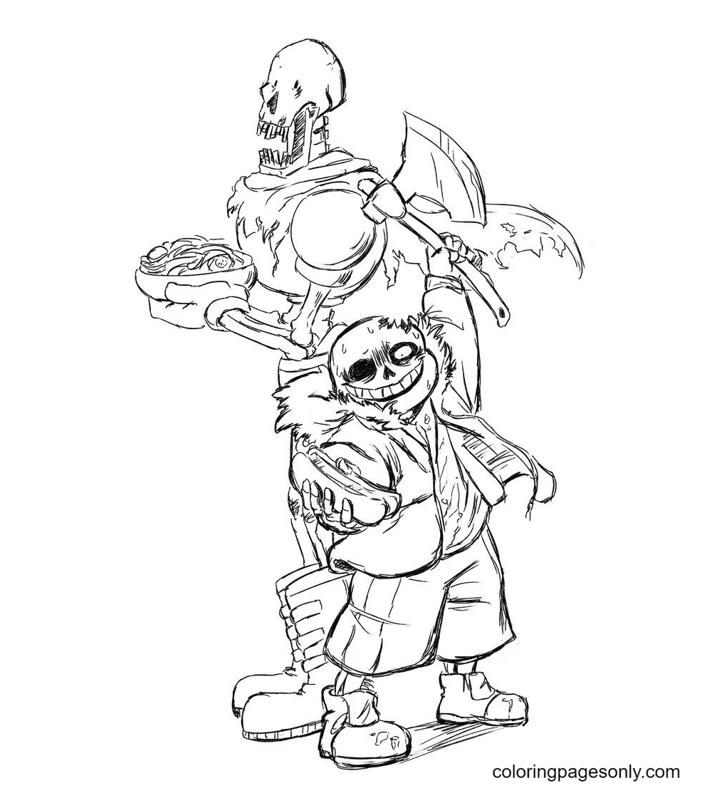Papyrus and Sans Free Printable Coloring Page
