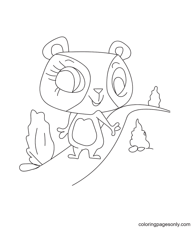 Penny Ling from LPS Coloring Page