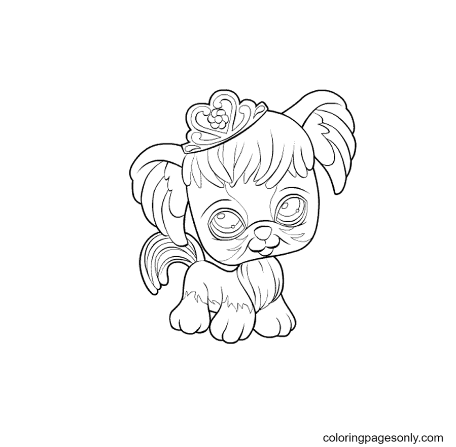 Pet Shop Dog in the Hat Coloring Page