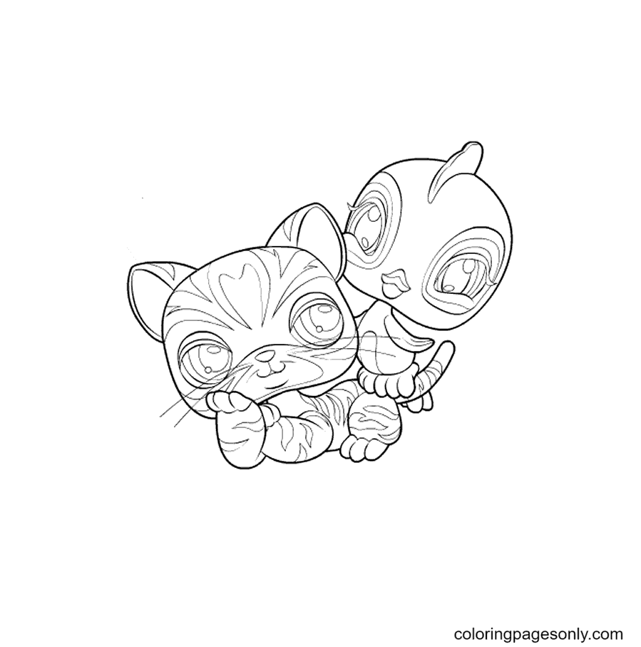 Pet Shop Kitty Coloring Page