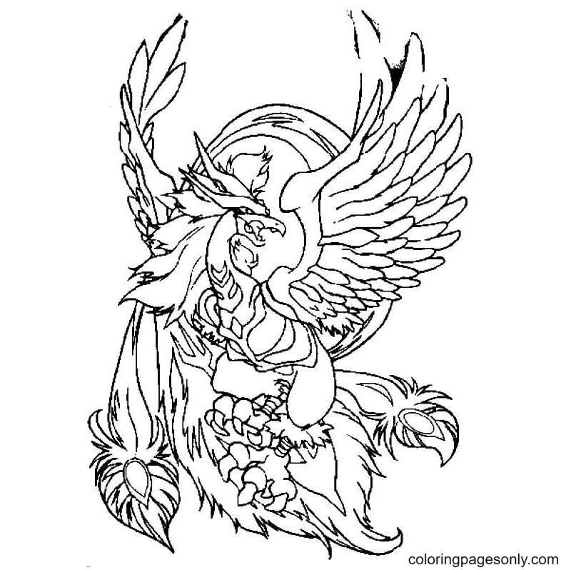 Phoenix Beyblade Coloring Page