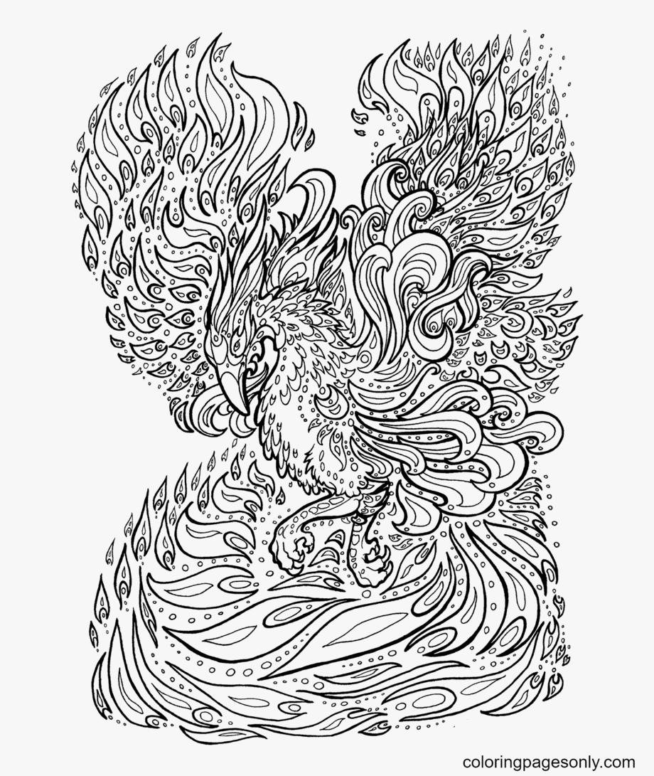 Phoenix Free Printable Coloring Page