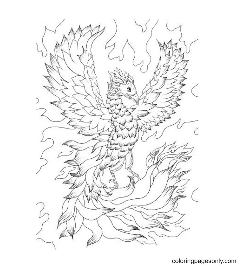 Phoenix Printable Free Coloring Page