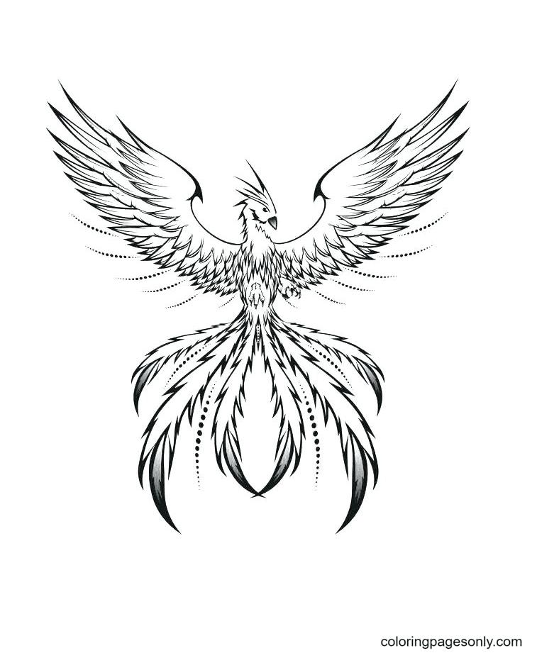 Phoenix Sheet Coloring Page