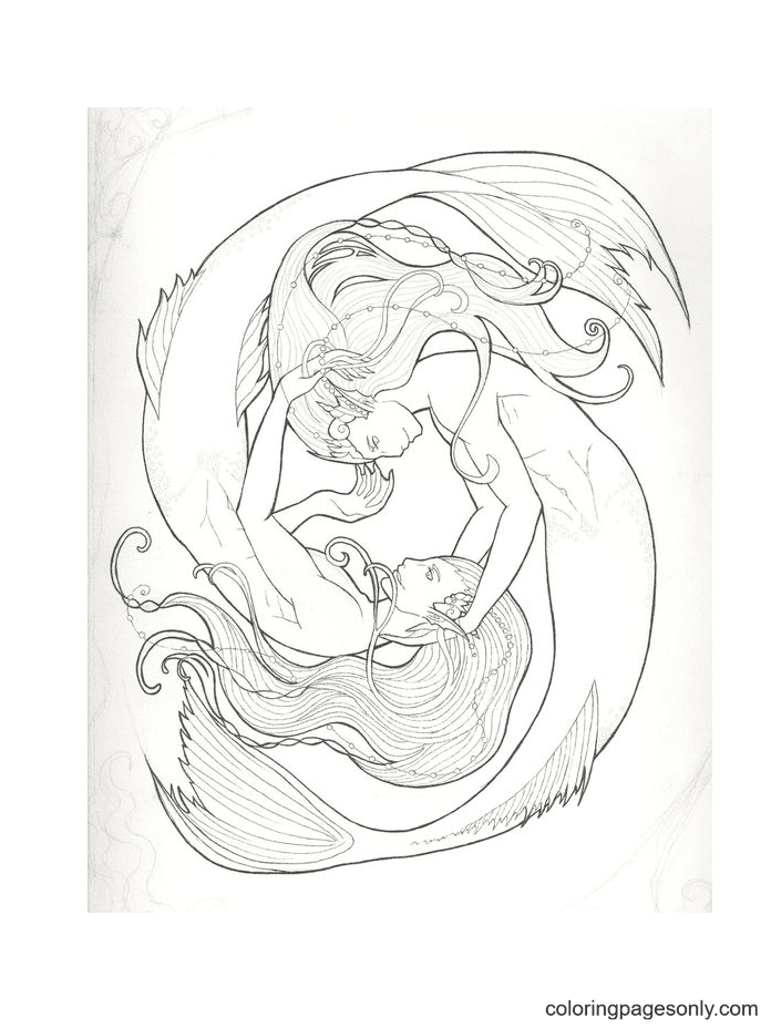 Picture Pisces Coloring Page