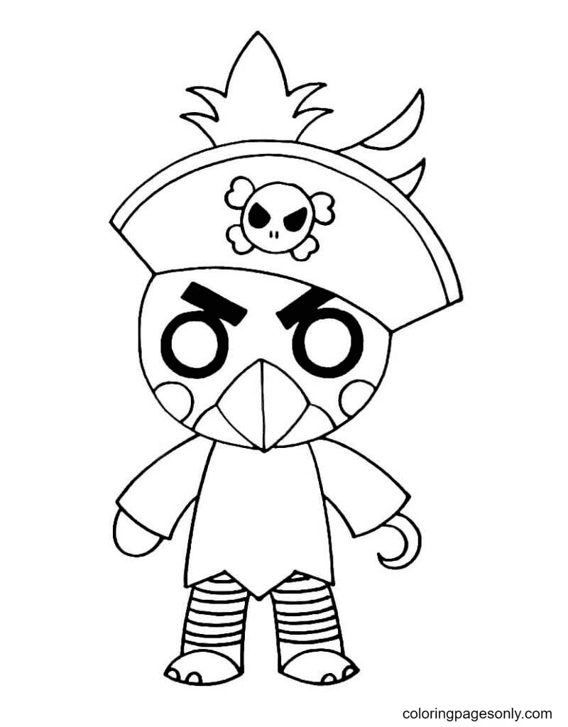 Piggy Budgey Coloring Page