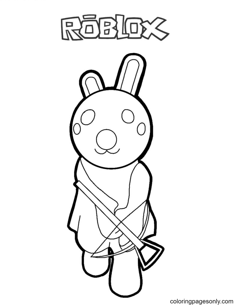 Piggy Bunny Coloring Page