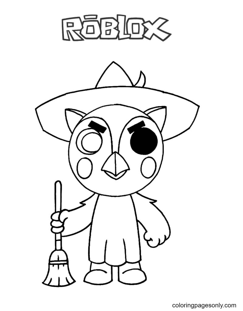 Piggy Owell Coloring Page